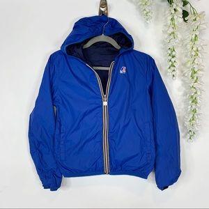 KIDS K-WAY reversible windbreaker jacket blue 1382